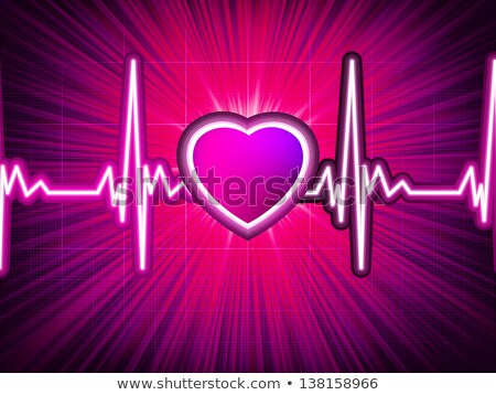 szív · ritmus · ekg · vektor · absztrakt · orvosi - stock fotó © beholdereye