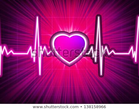 Heart beating monitor with burst. EPS 10 Stock photo © beholdereye