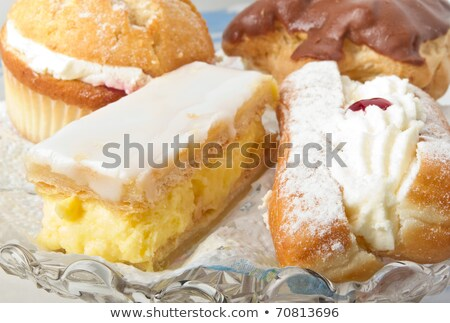 Selection of cream cakes Stock photo © RuthBlack