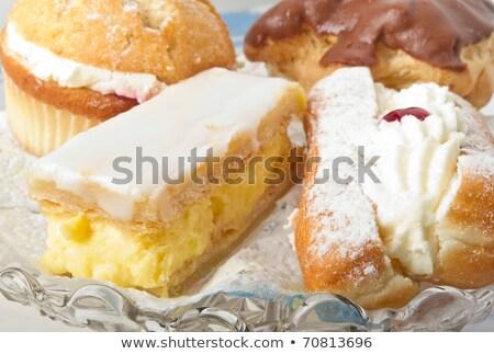 Selection of cream cakes Stock photo © RuthBlack