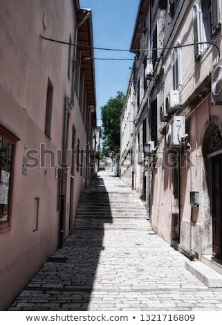 узкий улице лестница Хорватия дома дерево Сток-фото © anshar