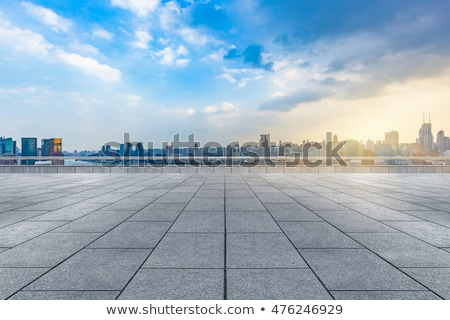 City skyline and railing Stock photo © zzve