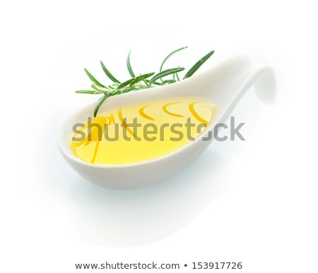 Foto stock: Olives On Ceramic Spoon