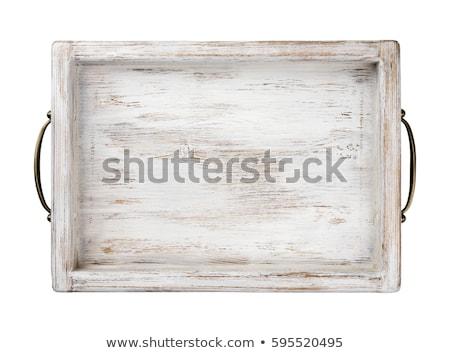 Antigo ferro bandeja isolado branco comida Foto stock © gavran333