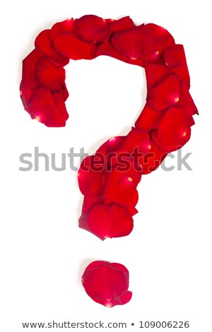 Punctuation mark  made from red petals rose on white Stock photo © bloodua