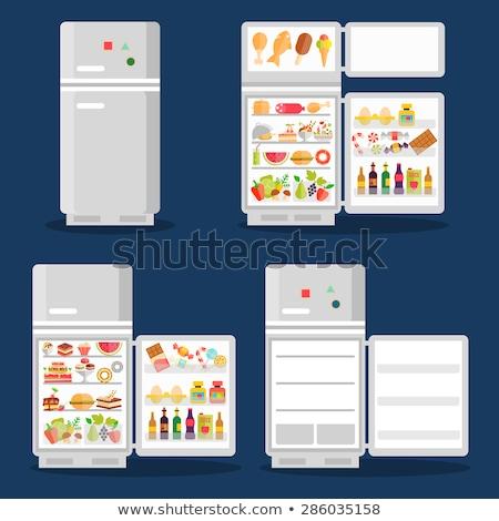 Tous les jours produits réfrigérateur horizontal photo lait Photo stock © tab62