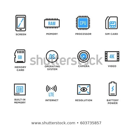 Czarny baran ikona ilustracja odizolowany biały Zdjęcia stock © cidepix