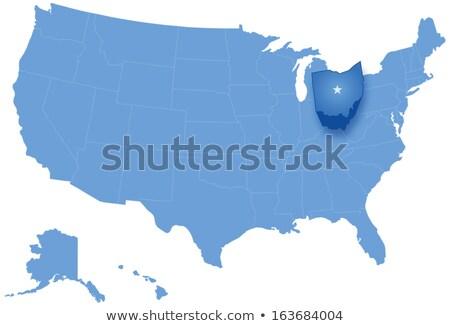 Harita Amerika Birleşik Devletleri Ohio dışarı siyasi tüm Stok fotoğraf © Istanbul2009
