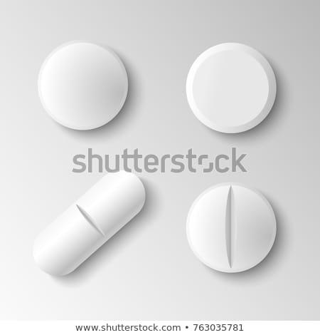 pílulas · prato · colorido · servido - foto stock © smuki