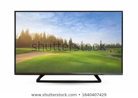 Tv monitor zwarte scherm Stockfoto © leonardo