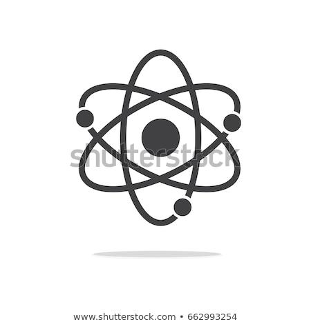 átomo · isolado · branco · alto · 3d · render - foto stock © make