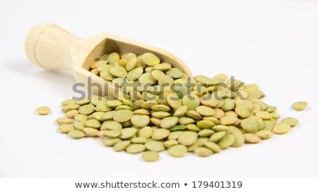 Todo verde blanco plato Foto stock © raphotos