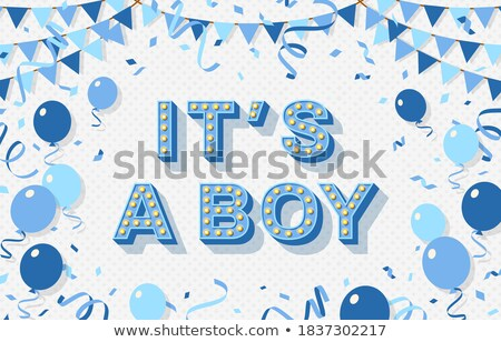 retro baby card   its a boy theme stock photo © maxmitzu