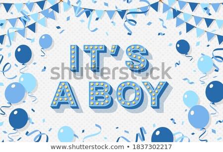Stock fotó: Retro · baba · kártya · fiú · terhes · nő · absztrakt