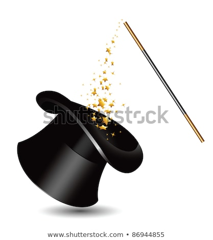 Magician top hat and Magic Wand with stars Stock photo © Winner
