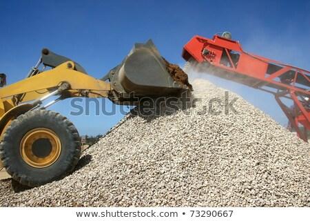 Elöl befejezés homok kő bányászat építkezés Stock fotó © fouroaks