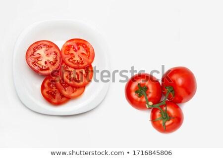 Tomate plaque menthe couleur olive Photo stock © raphotos