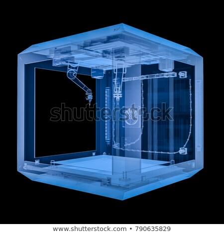 3D · yazıcı · model · açmak · kaynak · prototip - stok fotoğraf © cherezoff