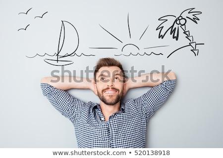 jonge · man · portret · denken - stockfoto © hasloo