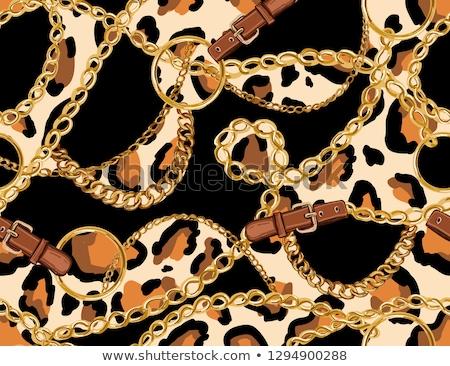 Animal print dress with golden belt Stock photo © gsermek