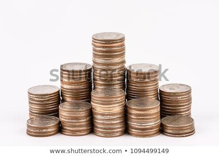 Thai coin stack on white background Stock photo © nuiiko