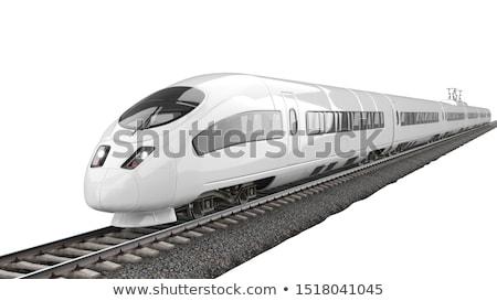 Moderno trem abstrato tecnologia silhueta Foto stock © leungchopan