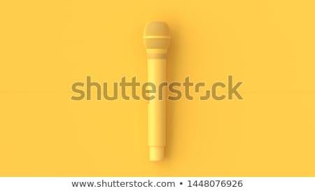 vintage 3d microphone Stock photo © tiero