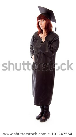Mature student standing with her hand on chin Stock photo © bmonteny