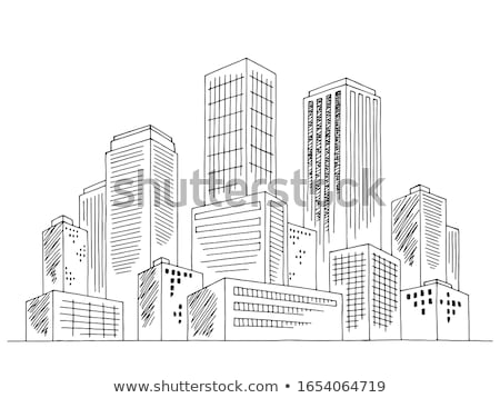 архитектура эскиз рисунок здании пространстве текста Сток-фото © maxmitzu