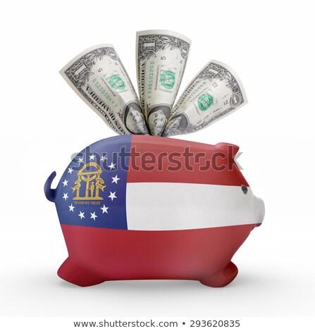 Zengin banka bayrak amerikan Georgia Stok fotoğraf © vepar5