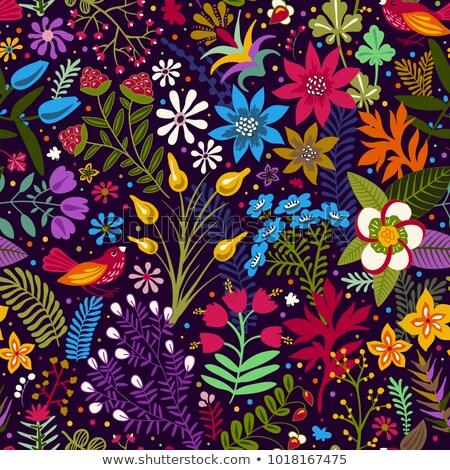 Senza soluzione di continuità colore decorativo fiore interior design Foto d'archivio © elenapro