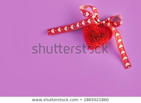 Red heartshaped pillow Stock photo © gemenacom