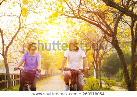 senior man enjoying cycle ride in the countryside stock photo © highwaystarz