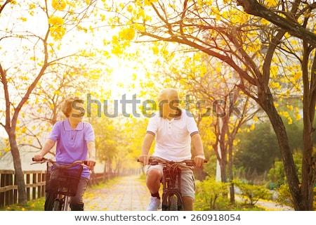 старший человека цикл велосипедов Сток-фото © HighwayStarz