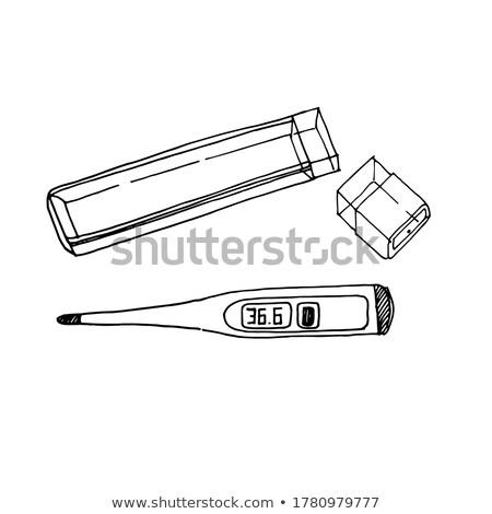 цифровой · электронных · термометра · изолированный · медицина · белый - Сток-фото © konturvid
