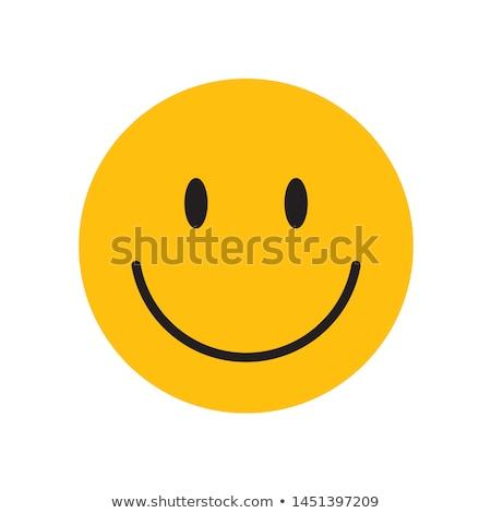 Uśmiechnięta twarz czerwony przycisk 3d twarz szczęśliwy Zdjęcia stock © Koufax73
