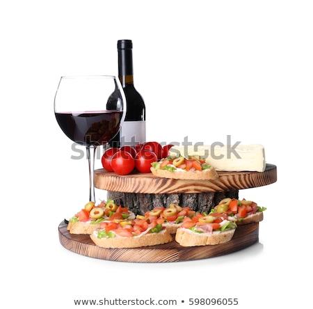 ワイングラス オブジェクト 白 パーティ ガラス レストラン ストックフォト © aliaksandra