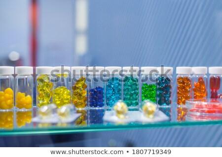 красочный капсулы белый медицинской фон помочь Сток-фото © kubais