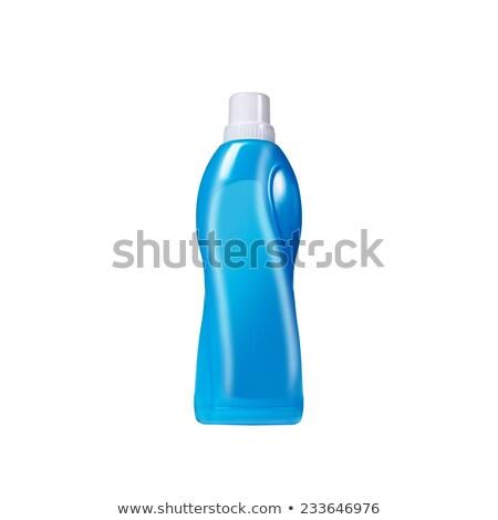 Kék műanyag üveg izolált fehér folyadék Stock fotó © dariazu