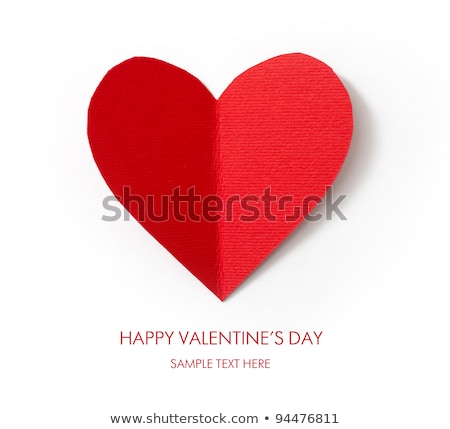 Holiday Card. Heart from paper Valentines day.  Look through my portfolio to find more images of the Stock photo © mcherevan