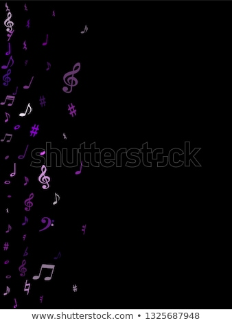 Music Notes Purple Vector Icon Design Stock photo © rizwanali3d