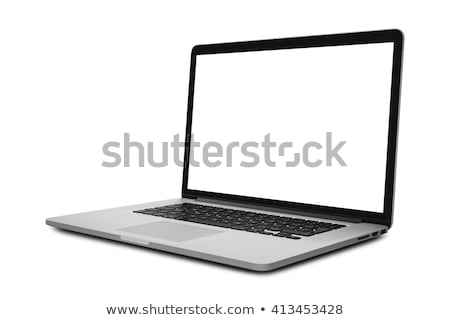 Portatile laptop foto tavolo in legno computer computer Foto d'archivio © AndreyPopov