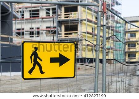 Feliratok határ kerítés épület helyszín Írország Stock fotó © morrbyte