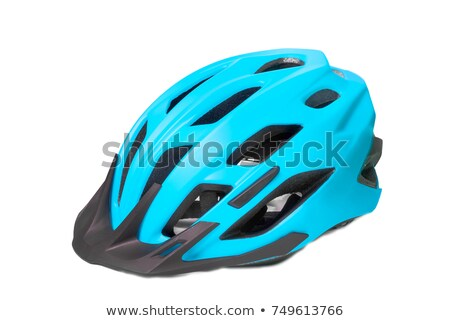 Velvet bike helmet on white background Stock photo © ozaiachin