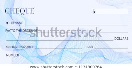 チェック 領収書 アイコン ベクトル 画像 することができます ストックフォト © Dxinerz