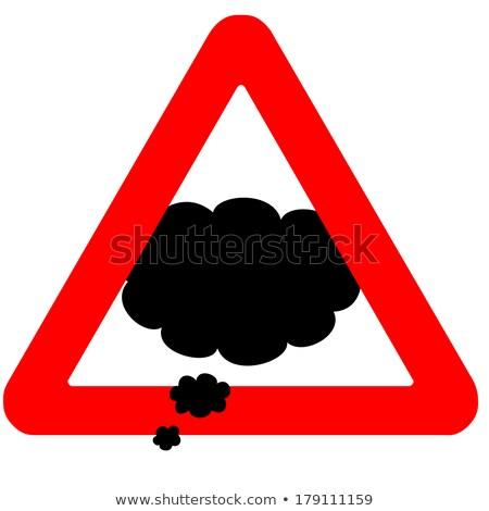 Fofoca vermelho placa sinalizadora céu internet Foto stock © tashatuvango