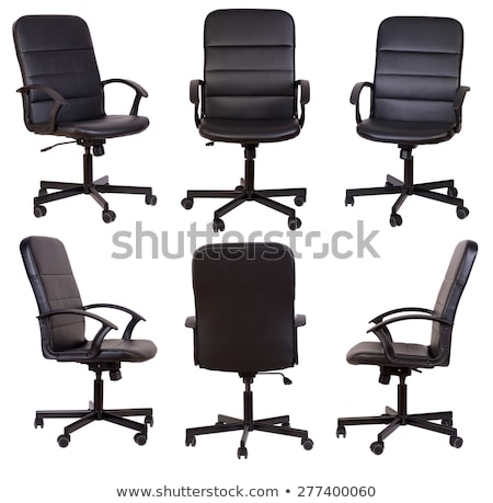 office chair from black leather stock photo © ozaiachin