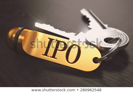 Stock photo: IPO Concept. Keys with Golden Keyring.