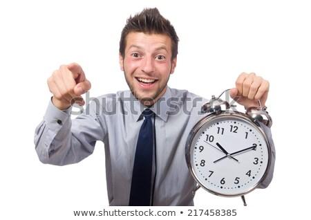 человека · часы · встретиться · крайний · срок · изолированный - Сток-фото © elnur