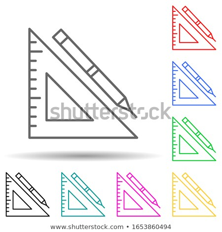 Construction Tools Square Vector Pink Icon Design Set Stock photo © rizwanali3d